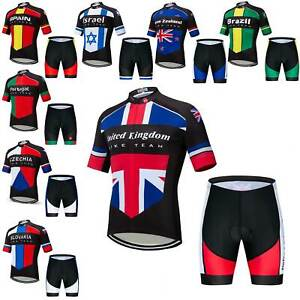 2021 Men's Countries Team Cycling Kit Short Sleeve Cycle Jersey and Shorts Set