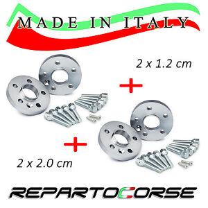 KIT 4 DISTANZIALI 12 + 20 mm REPARTOCORSE - MINI R56 COOPER - 100% MADE IN ITALY