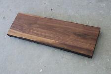 Platte Nussbaum Massiv Holz mit Baumkante Leimholz Tischplatte Waschtischplatte