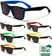 Retro Optix Sunglasses - Stylish Two Tone Frame - Matte Finish- FREE POST IN AUS