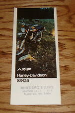 Original 1974 Harley-Davidson SX-125 Motorcycle Foldout Sales Brochure AMF 74