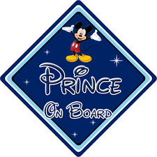 Disney Prince On Board Car Sign – Baby On Board – Mickey Mouse DB