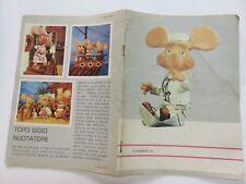 Vecchio quaderno scolastico scuola TOPO GIGIO NUOTATORE Maria Perego CISA Roma