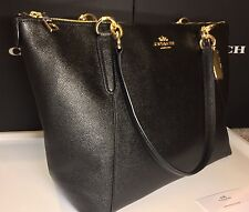 Coach F35808 F57526 Ava Tote In Crossgrain Leather In Black BNWT