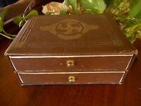 Art Decor Vintage Cardboard Box with Drawers Brown Trinket Jewelry Box