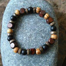 Mens  Surfer  Natural Stone Bracelet  Wood Bracelets Friendship Bracelets