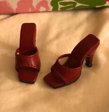 """Shoes Sandals for 16"""" Tyler Gene Sydney Dolls Slip-on Kingstate Burgundy HTF"""