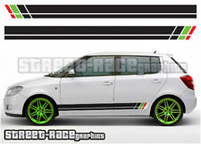 Skoda side 001 racing stripes graphics stickers decals Fabia Octavia VRS
