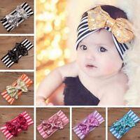 Multicolor Striated Girl Boy Turban For Baby Headband Bow Hairband Knot Rabbit