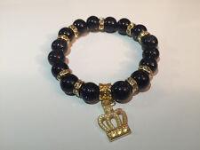 Damenarmband Armband Edelsteine handgefertigt blauer Goldfluss/Aventurin