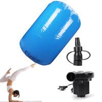 120x90CM Inflatable Gymnastics Mat Air Roll Balance Training Roller Gym Pad+Pump