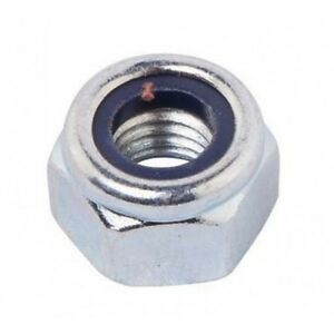 M8 Nylock Nuts - BZP - Pack of 20