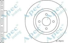 1x OE Quality Replacement Front Axle Apec Vented Brake Disc 4 Stud 324mm - Pair