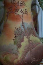 "Gorgeous~Rare Nippon  5 1/4"" moriage Vase Woodland Scene Galle Style mark#47"