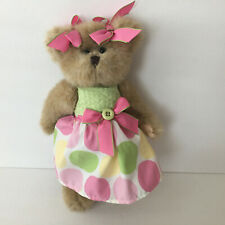 Bearington Bella Buttons Easter Spring Bear 11'' Retired Jointed Bean Bag Plush
