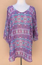 Oneill Top Blouse Relaxed Fit Beach Dress Multi-Color XS/S NWOT