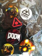 Doom Badges Pins Collectables BNIP
