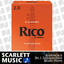 Rico Bb Clarinet 10 x Reeds, Strength 2.0 ( Two ) 10-pack RCA-1020 by D'addario