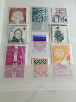 FRANCE, LOT  timbres ANNEES '60 neufs** LUXE, MNH STAMPS, 6U