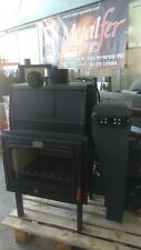 Termocamino policombustibile Forni Metalfer idro 33 kw legna pellet nocciolino