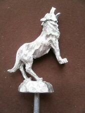 rare vintage howling wolf figurine, ratrod,burnout,hotrod,car hood ornament
