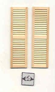 Persiane #5019 Casa Delle Bambole 1:12 Scala Miniatura Finestre 1pair di Legno