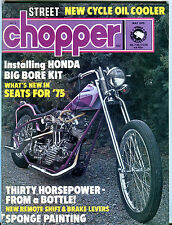 Chopper Magazine May 1975 Installing Honda Big Bore Kit EX 062116jhe