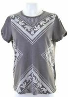 ALL SAINTS Womens Graphic T-Shirt Top Size 14 Medium Grey Cotton  N213