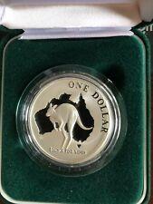 2000 Australia Kangaroo $1 Dollar 1 Ounce .999 Silver Coin