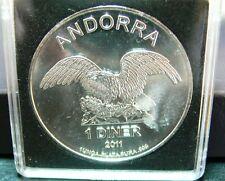 Andorra Eagle Silber 1 Diner 2011 PP  in Kapsel