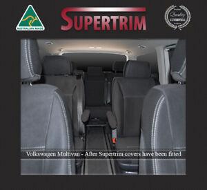 FRONT & REAR SEAT COVERS FIT VOLKSWAGEN MULTIVAN T6 PREMIUM WATERPROOF NEOPRENE