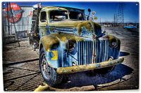 Vintage Truck Kramer Junction Man Cave Retro Automotive Classic Metal Sign