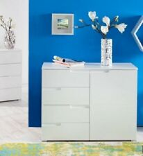 White Modern Storage Sideboard Cabinet Cupboard Chest Drawer Living Furniture pc