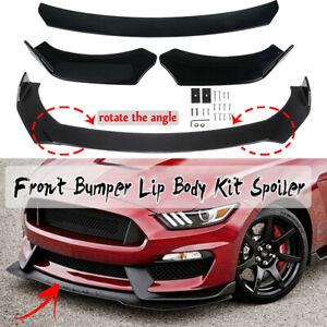 Black Car Front Bumper Lip Body Kit Splitter Protector For Honda BMW Toyota Audi
