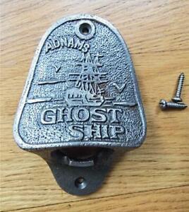 SOLID CAST IRON WALL MOUNTED BOTTLE OPENER ADNAMS GHOST SHIP GARDEN MAN CAVE DEN