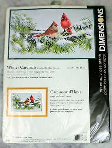Dimensions Winter Cardinals 35178 Cross-Stitch Kit New