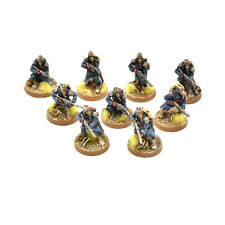 DEATH KORPS OF KRIEG 9 infantry troops advancing WELL PAINTED Forge world squad