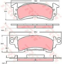 GDB742 TRW Bremsbelagsatz, Scheibenbremse Vorderachse