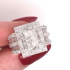 Diamond Right-Hand Ring 3.00ct Princess Cut