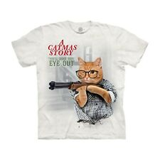 The Mountain Men's A Christmas Story Cat Spoof T-Shirt, Catmas Movie Tee, White