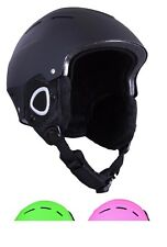 Kids Ski Casque De Ski Noir Junior Snowboard Casque 52 To 56 cm Âge 4 To 8 ans