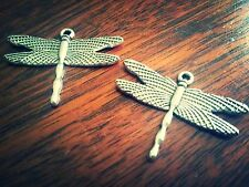 Dragonfly Charms Dragonfly Pendants Silver Dragonfly Pendants Insect Charms 10pc