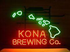 NEW KONA BREWING COMPANY HAWAII REAL GLASS NEON GLASS BEER BAR PUB LIGHT SIGN