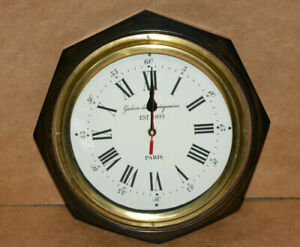 """Vintage wall clock 12"""" decorative octagon shape collectible wooden wall clock"""