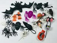 Lot (30+) Vintage Halloween Smalls 30s 40s 50s Witch Cat Skeleton Skull Spider