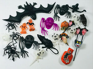 Lote (30 Vintage Halloween Smalls 30s 40s 50s Bruja Gato Esqueleto Cráneo Spider