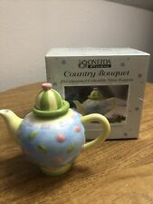 """New listing Oneida Kitchen Country Bouquet Miniature China Teapot -"""" Floral Toss """" New"""