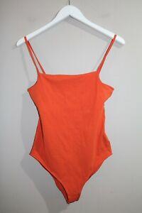 COTTON ON Brand Women's Burnt Orange Straight Back Bodysuit Size M BNWT #TB82