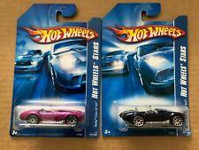 Hot Wheels 2007 Code Cars - Shelby Cobra 427/SC - Set of 2 - Magenta & Dark Blue