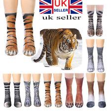 Funny 3D Animal Printed Paw Crew Socks Women Men Cotton Soft Dress Socks Gift UK